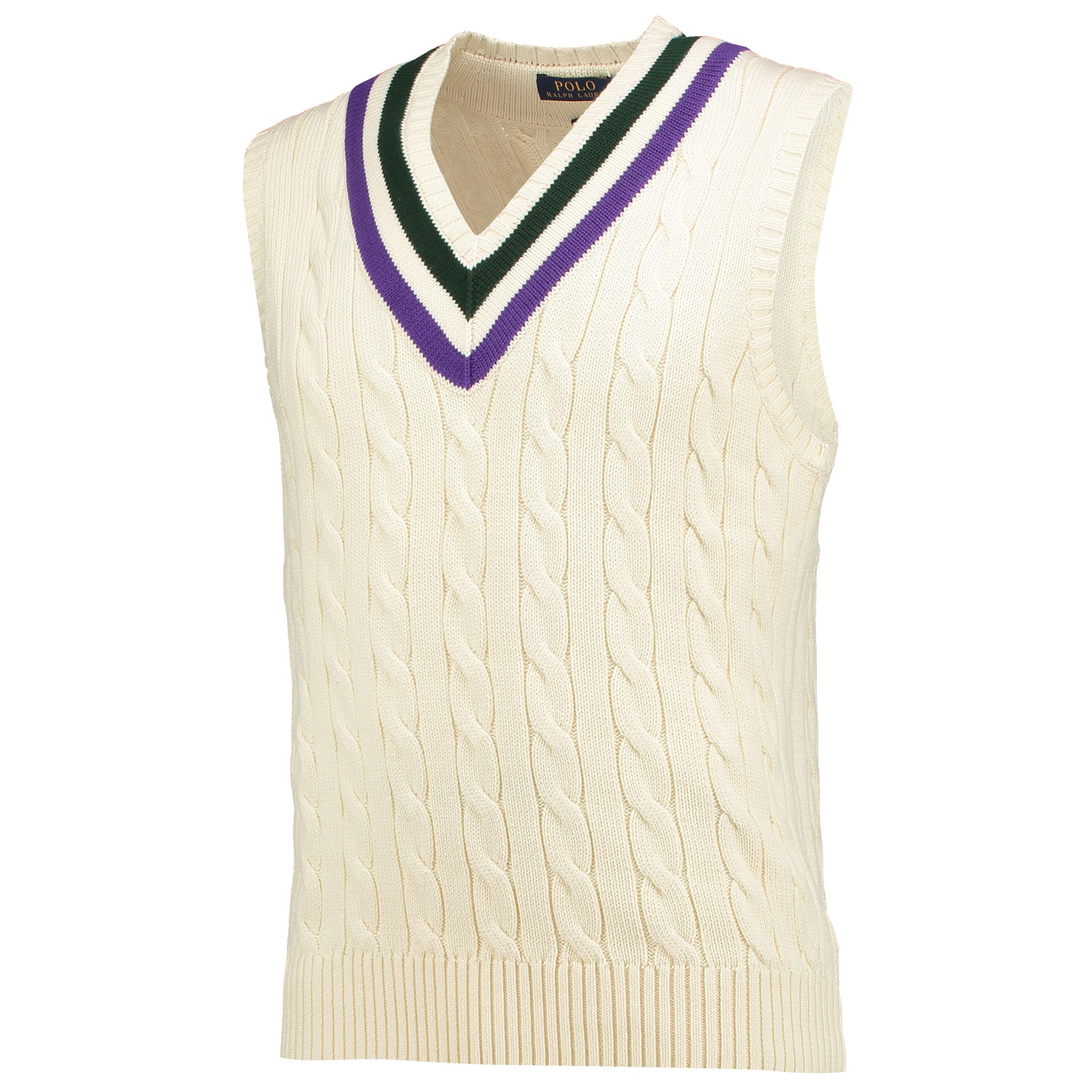 Wimbledon Ralph Lauren Tennis Vest - Cricket Cream