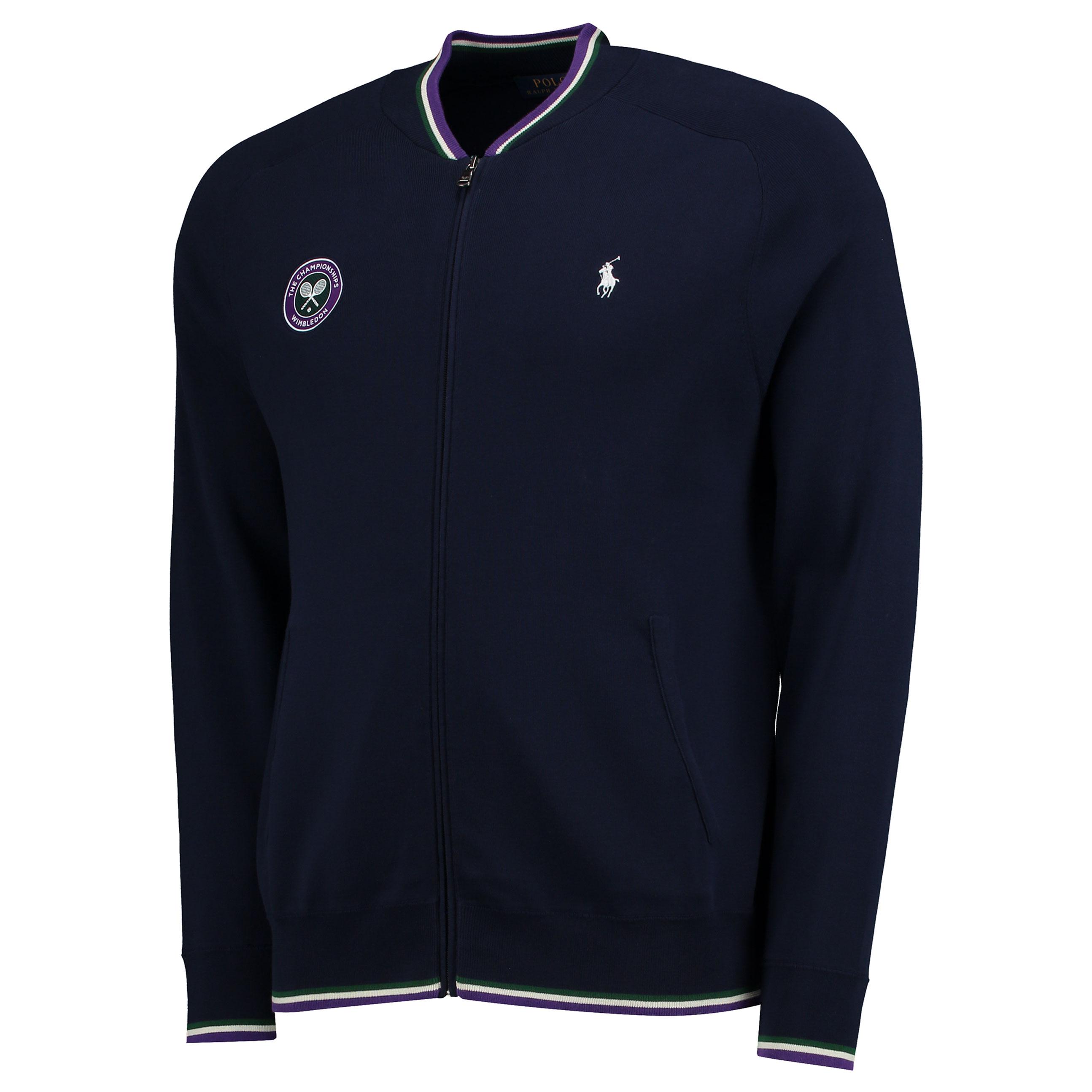 Wimbledon Ralph Lauren Baseball Jacket - French Navy