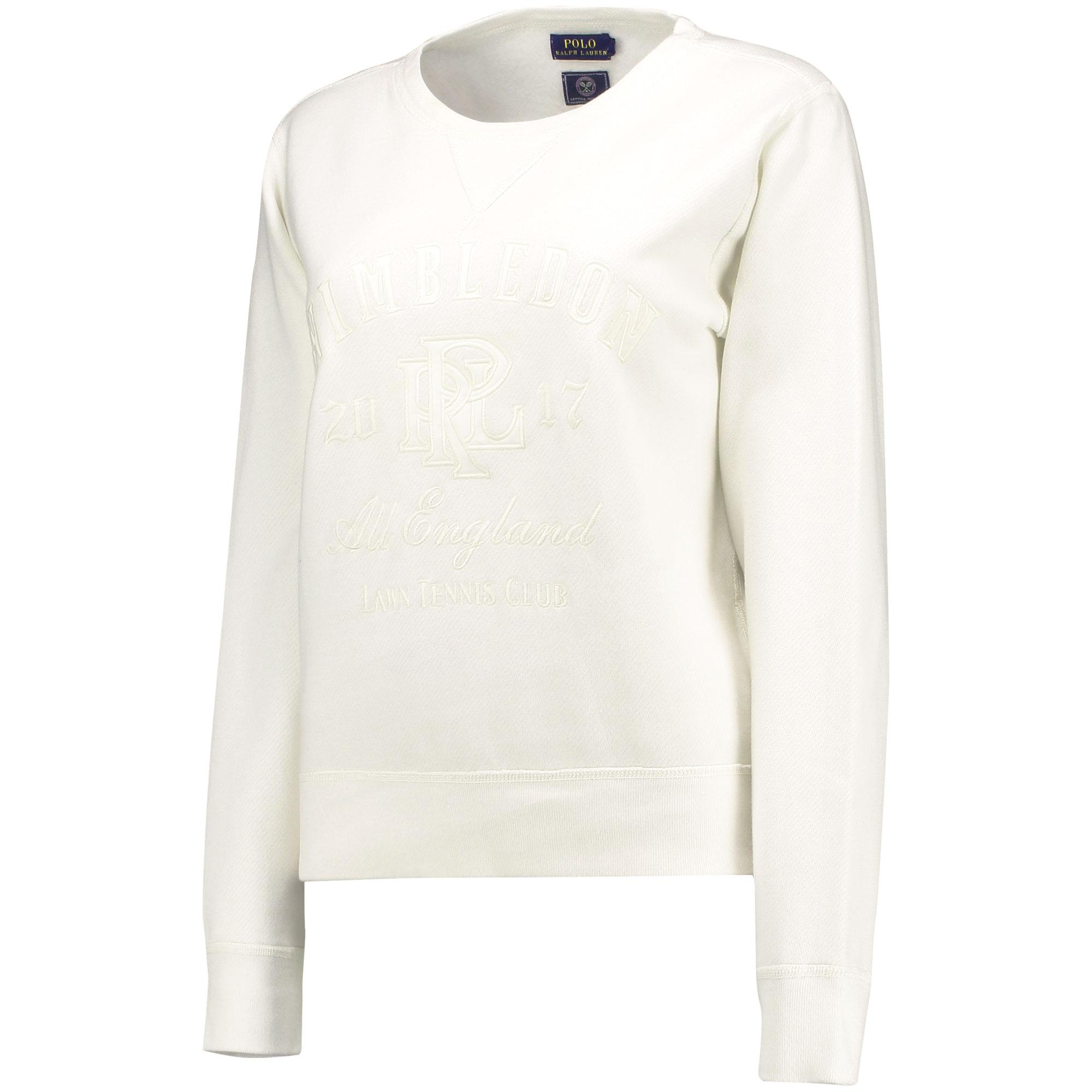 Wimbledon Ralph Lauren Sweatshirt - Deckwash White - Ladies
