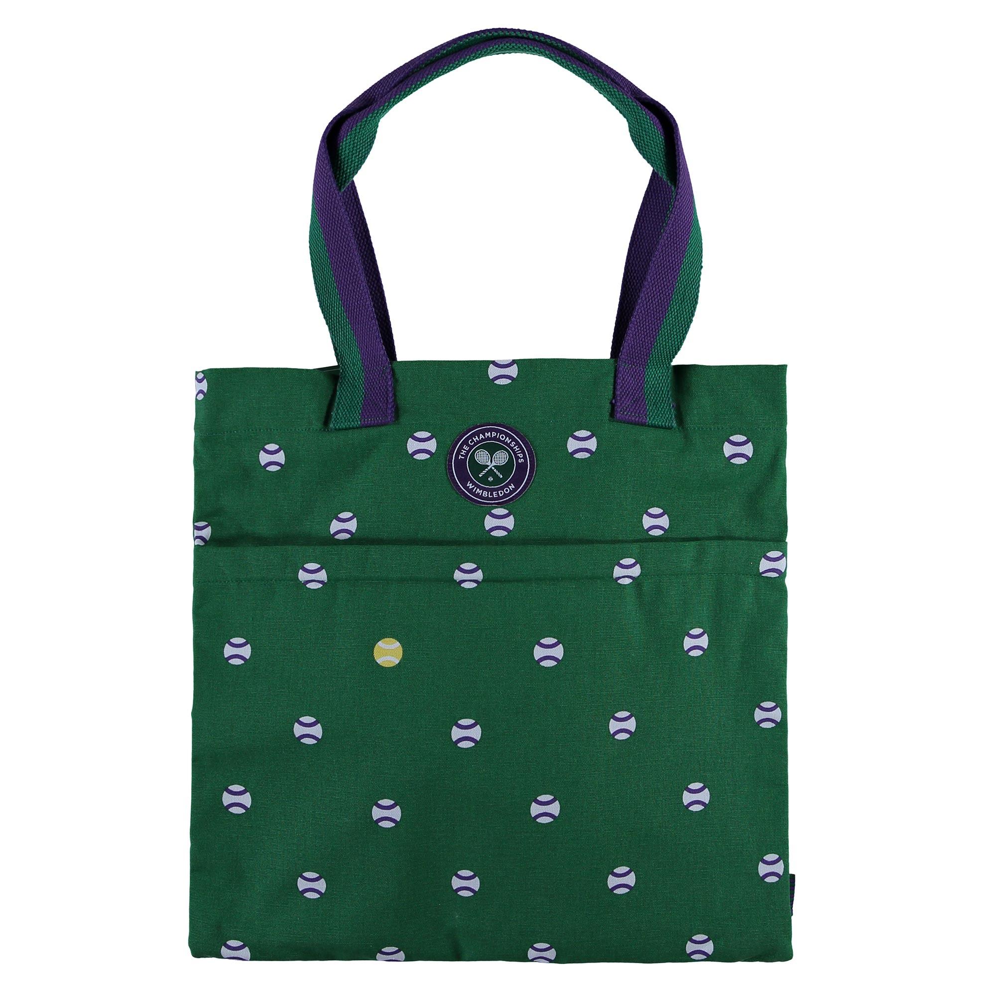 Wimbledon Book Bag - Green Ball Spots