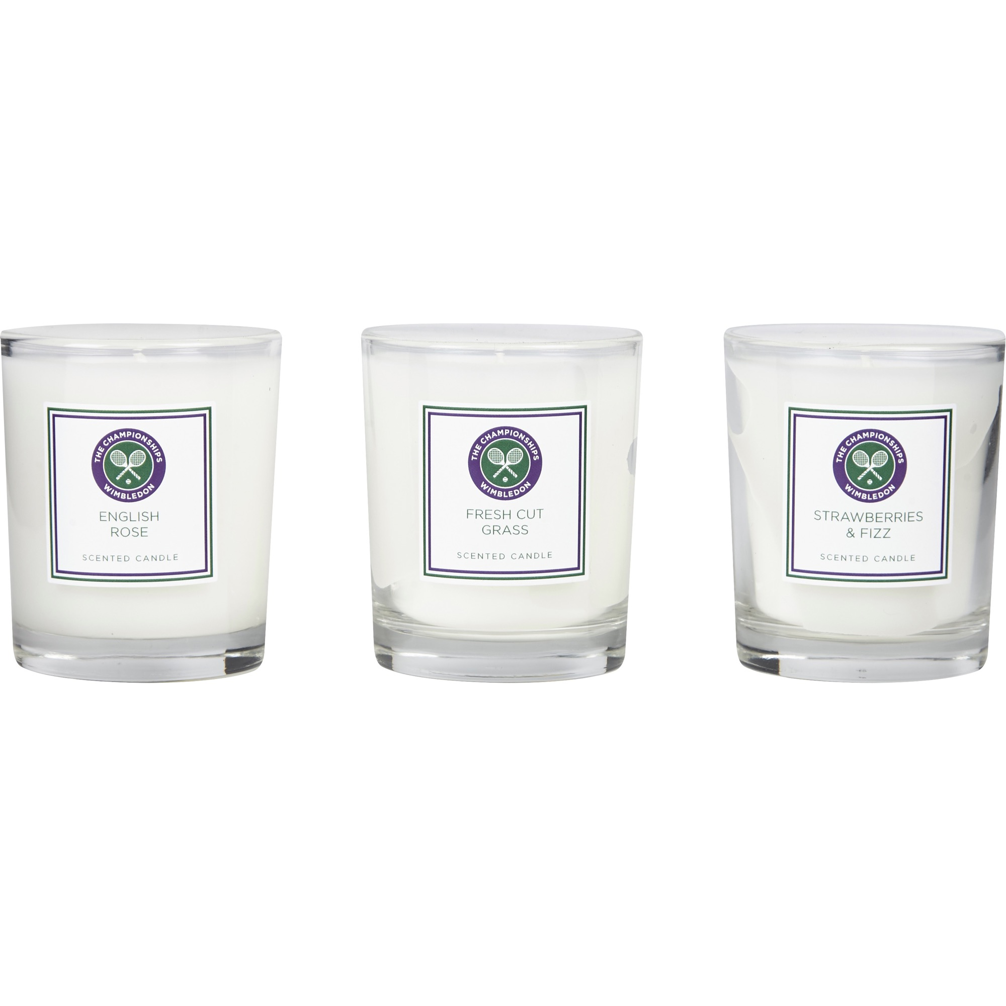 Wimbledon Scented Mini Candle - Set of 3