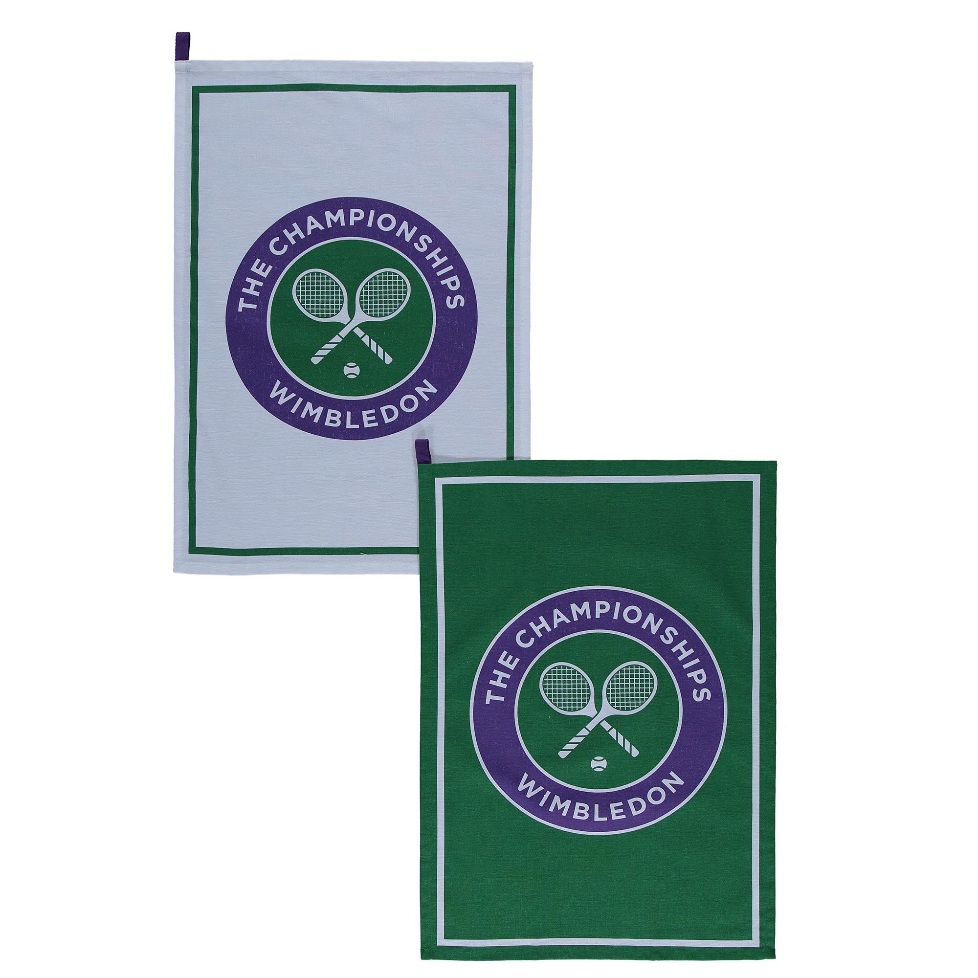 Wimbledon Logo Tea Towel - Twin Pack