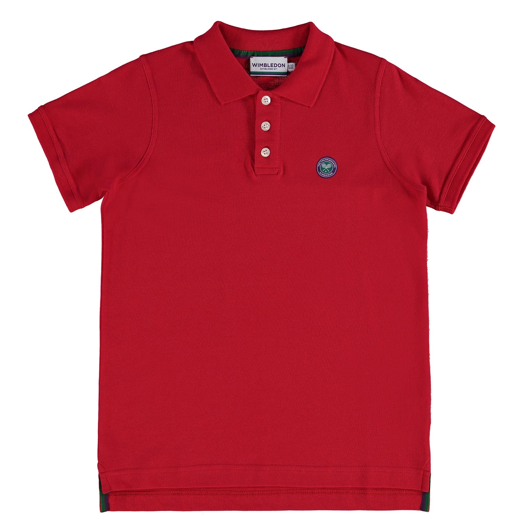 Wimbledon Classic Pique Polo - Mars Red - Junior
