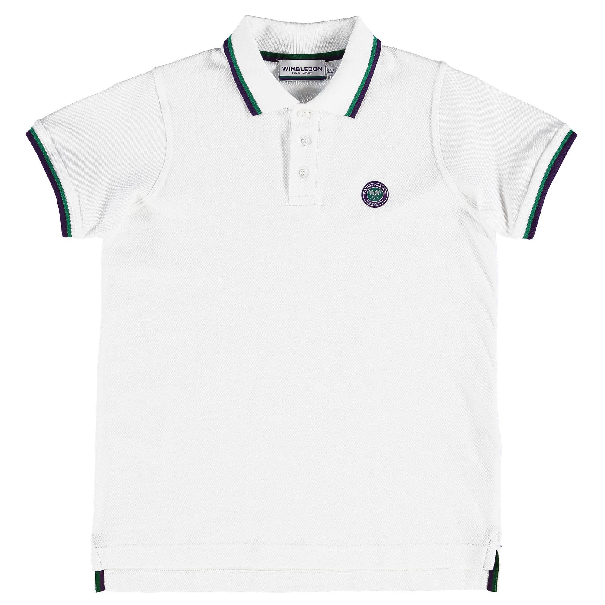 Wimbledon Classic Pique Polo - White - Junior