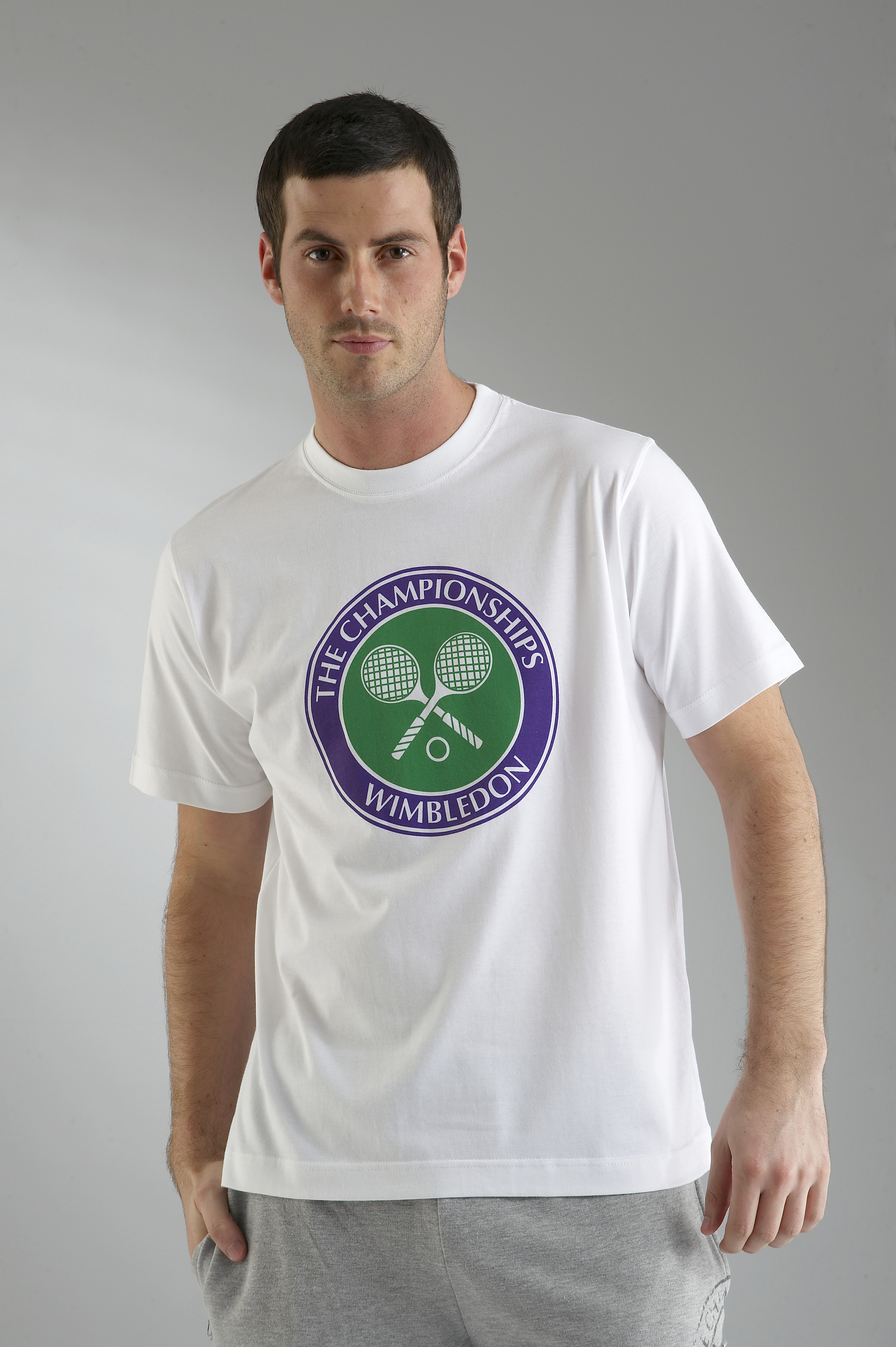 Wimbledon Crossed Rackets Print T-Shirt - White