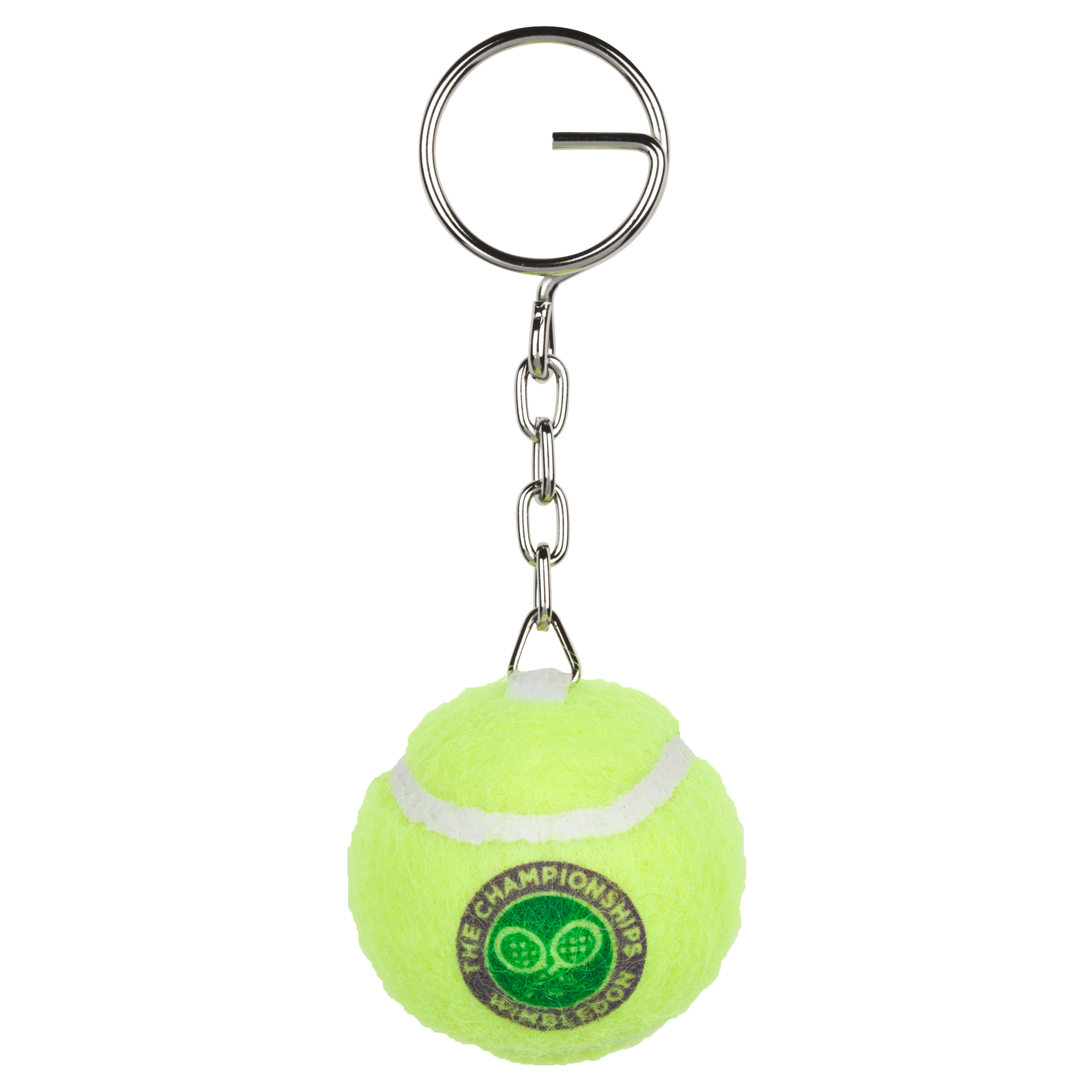 Wimbledon Mini Tennis Ball Keyring - Yellow