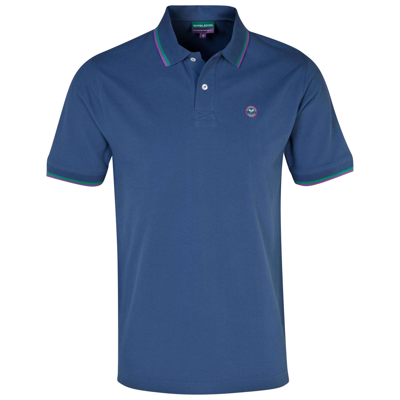 Wimbledon Pique Polo Shirt - Navy