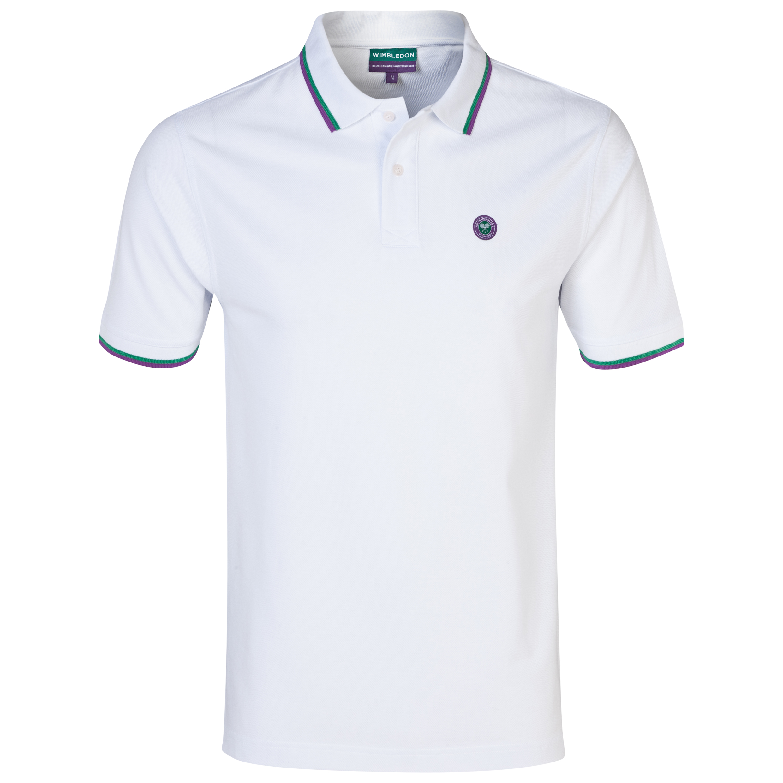 Wimbledon Pique Polo Shirt - White