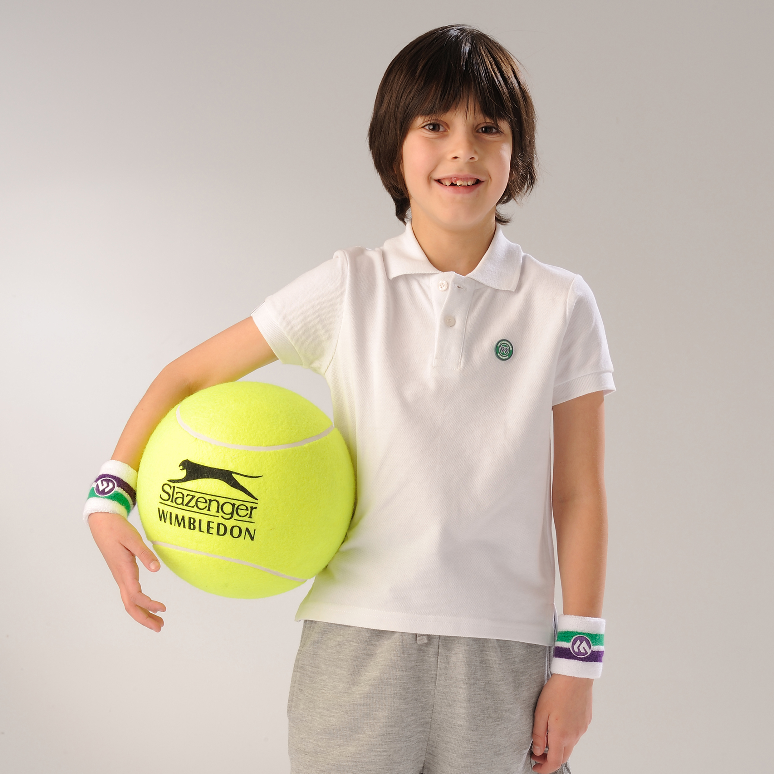 Wimbledon Pique Polo Shirt - White - Kids