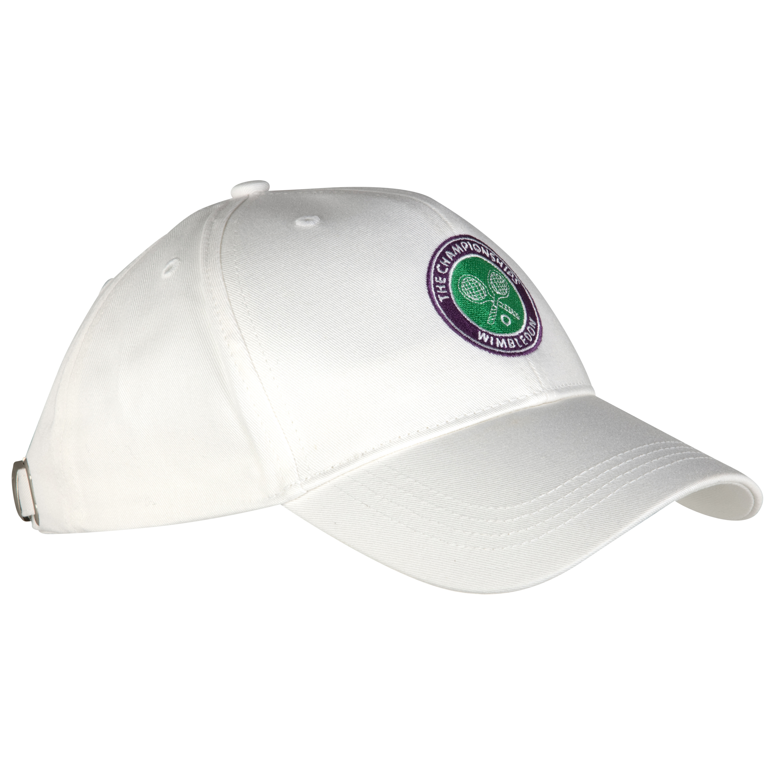 Wimbledon Crossed Rackets Cap - White