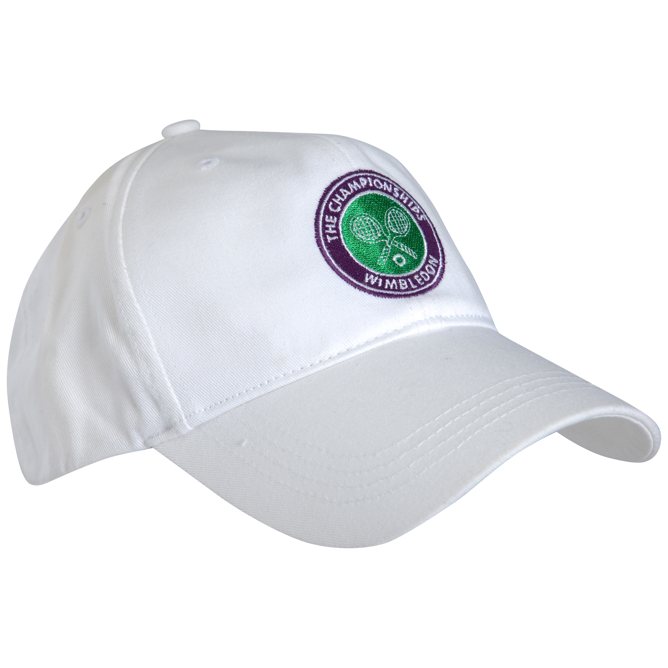 Wimbledon Crossed Rackets Cap - White - Kids