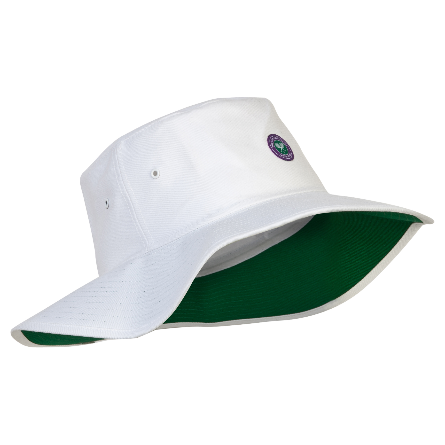Wimbledon Wide Brim Sun Hat - White