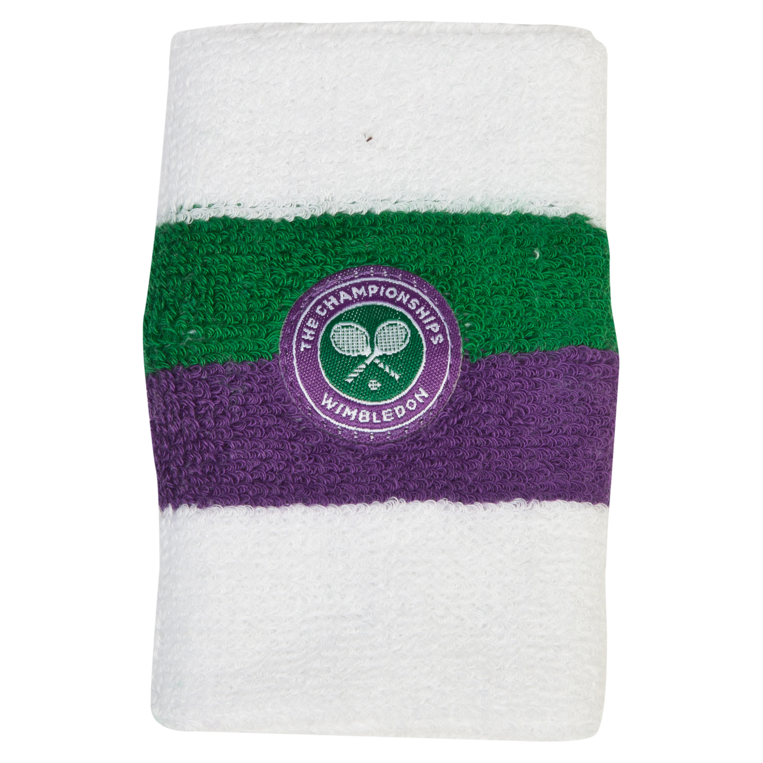 Wimbledon Jumbo Wristband - Green/Purple