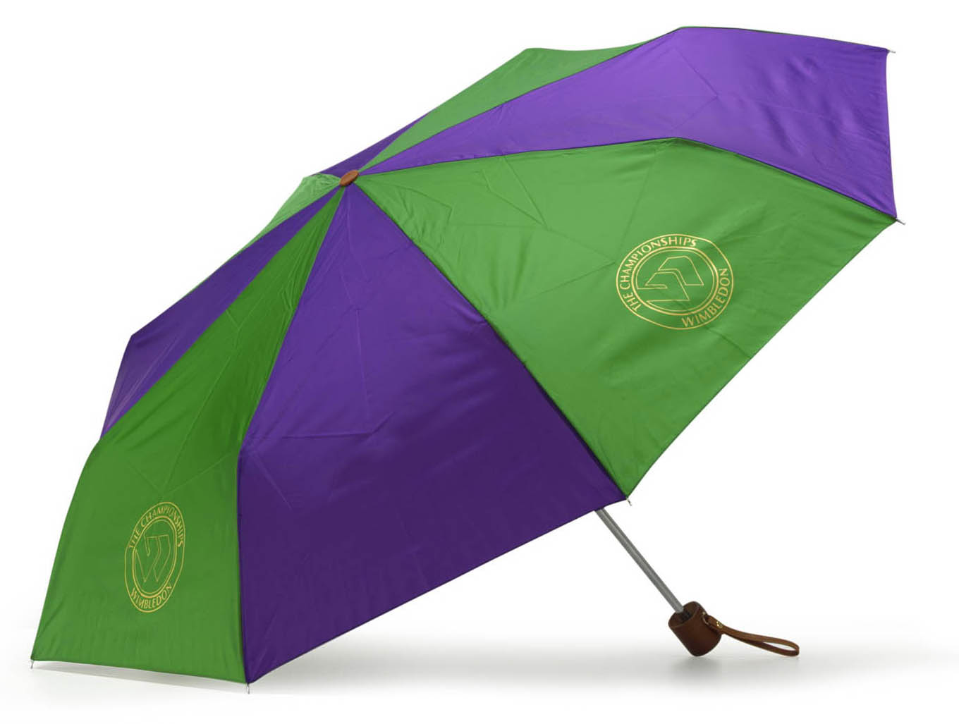 Wimbledon Super Mini Telescopic Umbrella - Purple/Green