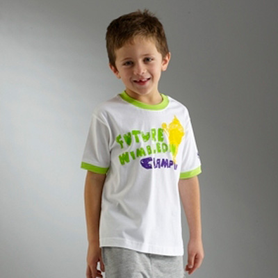 Wimbledon Future Champion Print T-Shirt - White - Kids