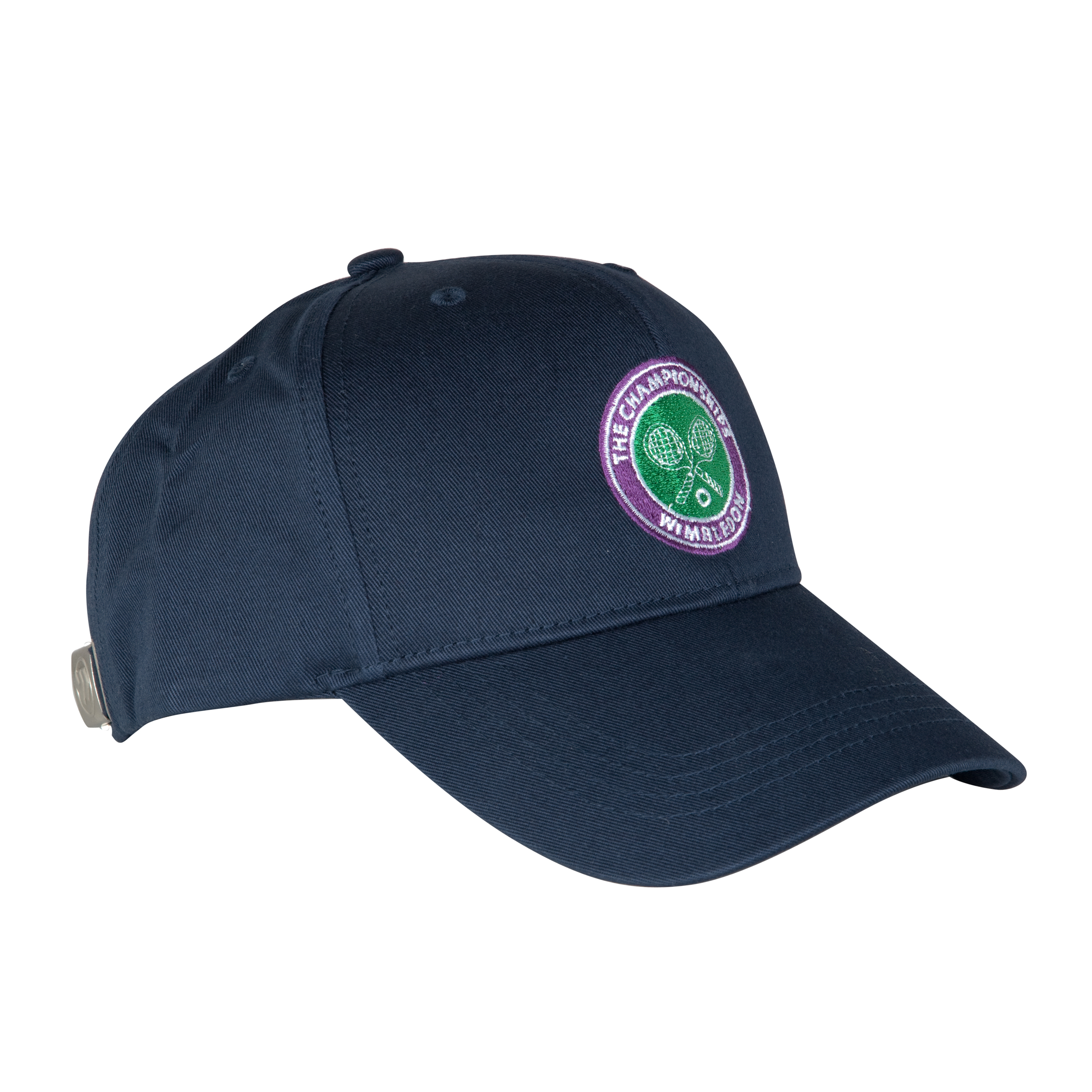 Wimbledon Crossed Rackets Cap - Navy - Kids