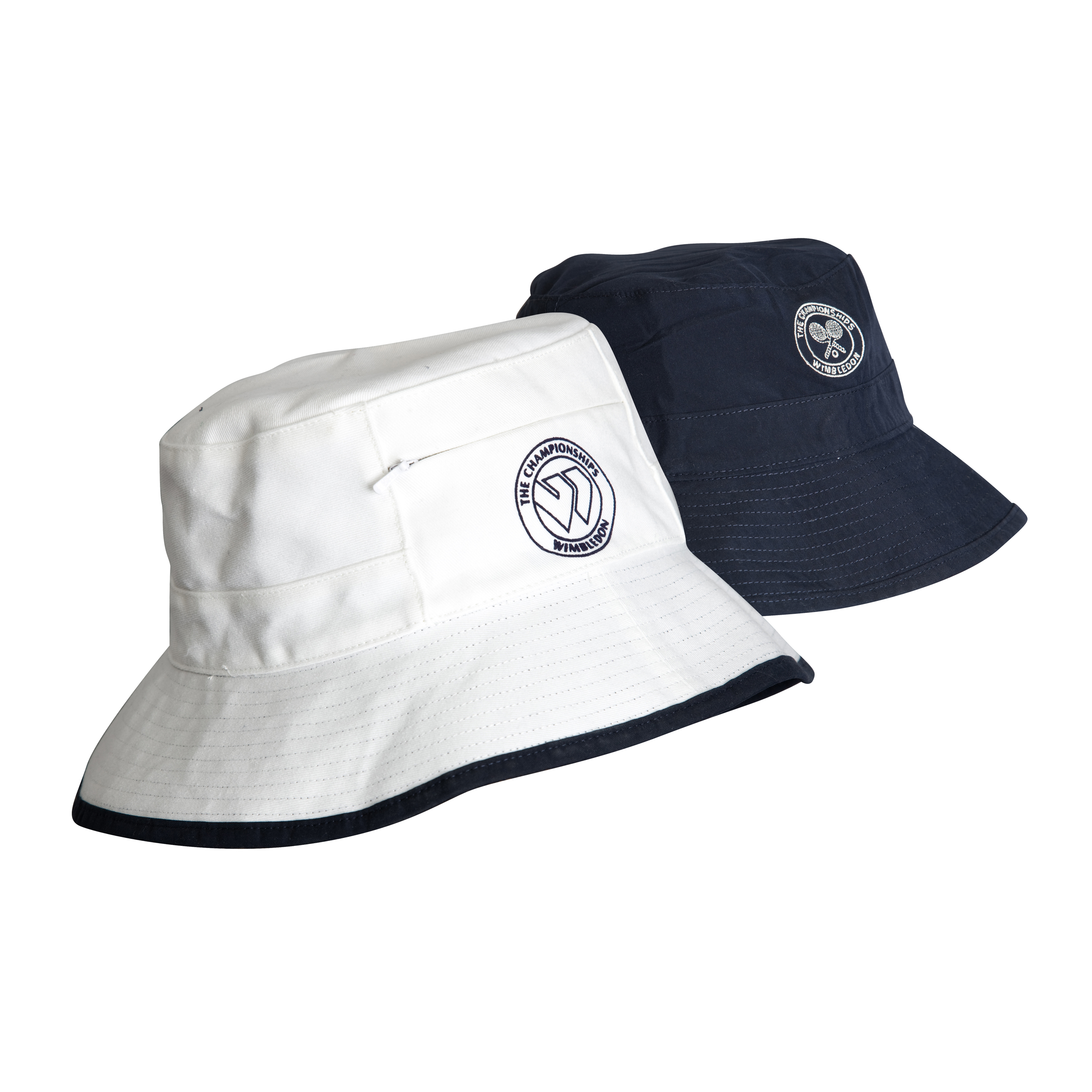 Wimbledon Reversible Sun Hat - White/Navy