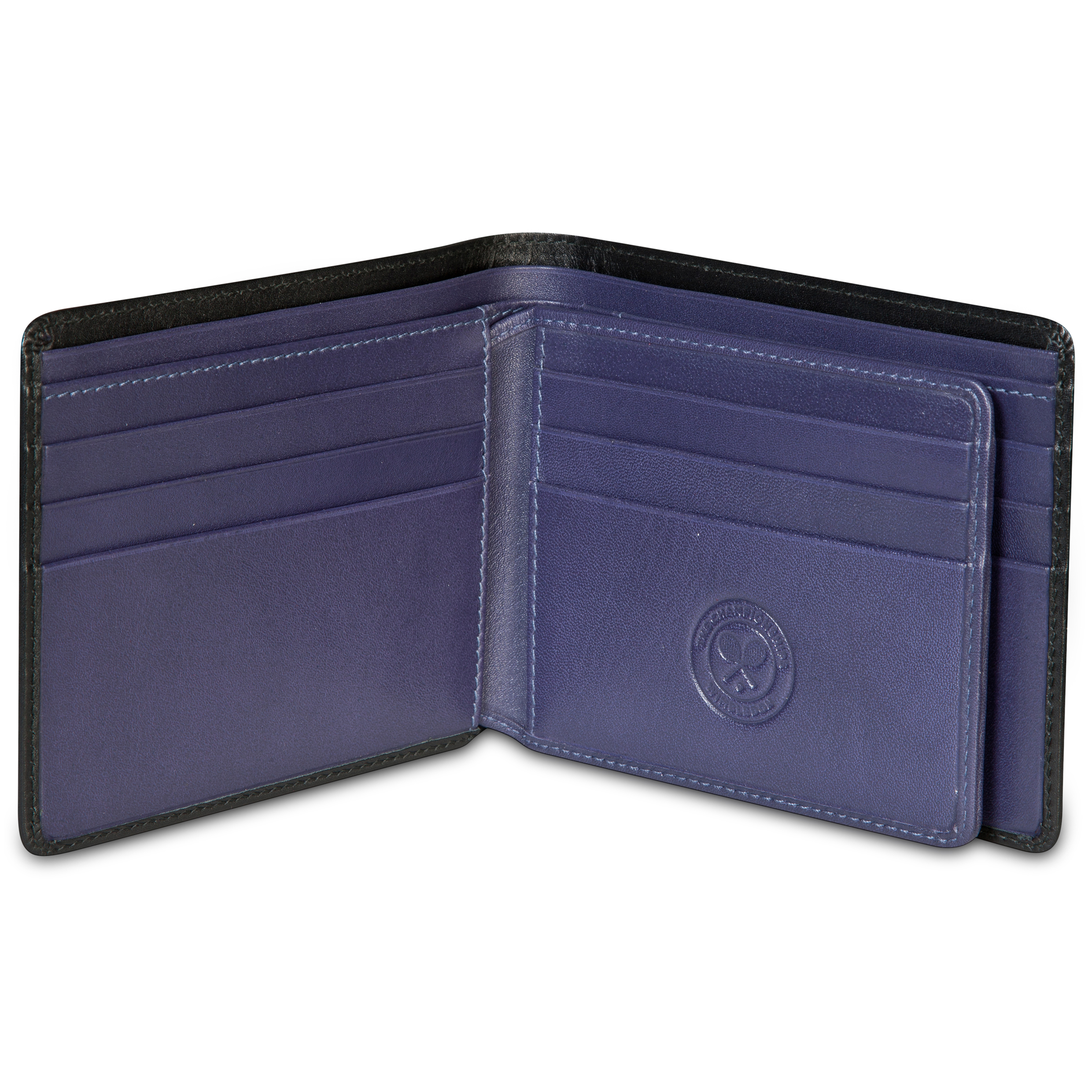 Wimbledon Leather Wallet - Black