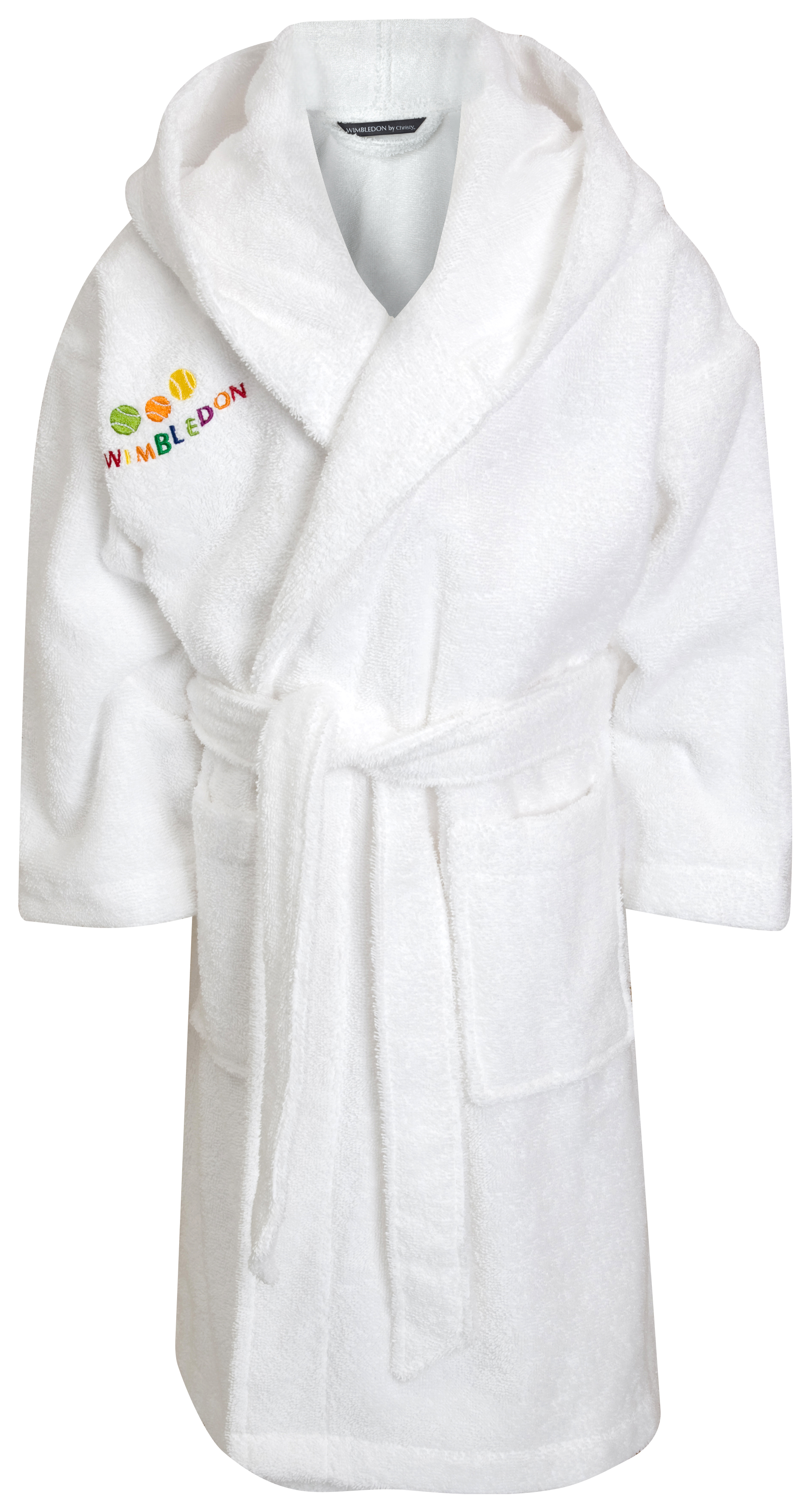 Wimbledon Childrens Terry Robe - White