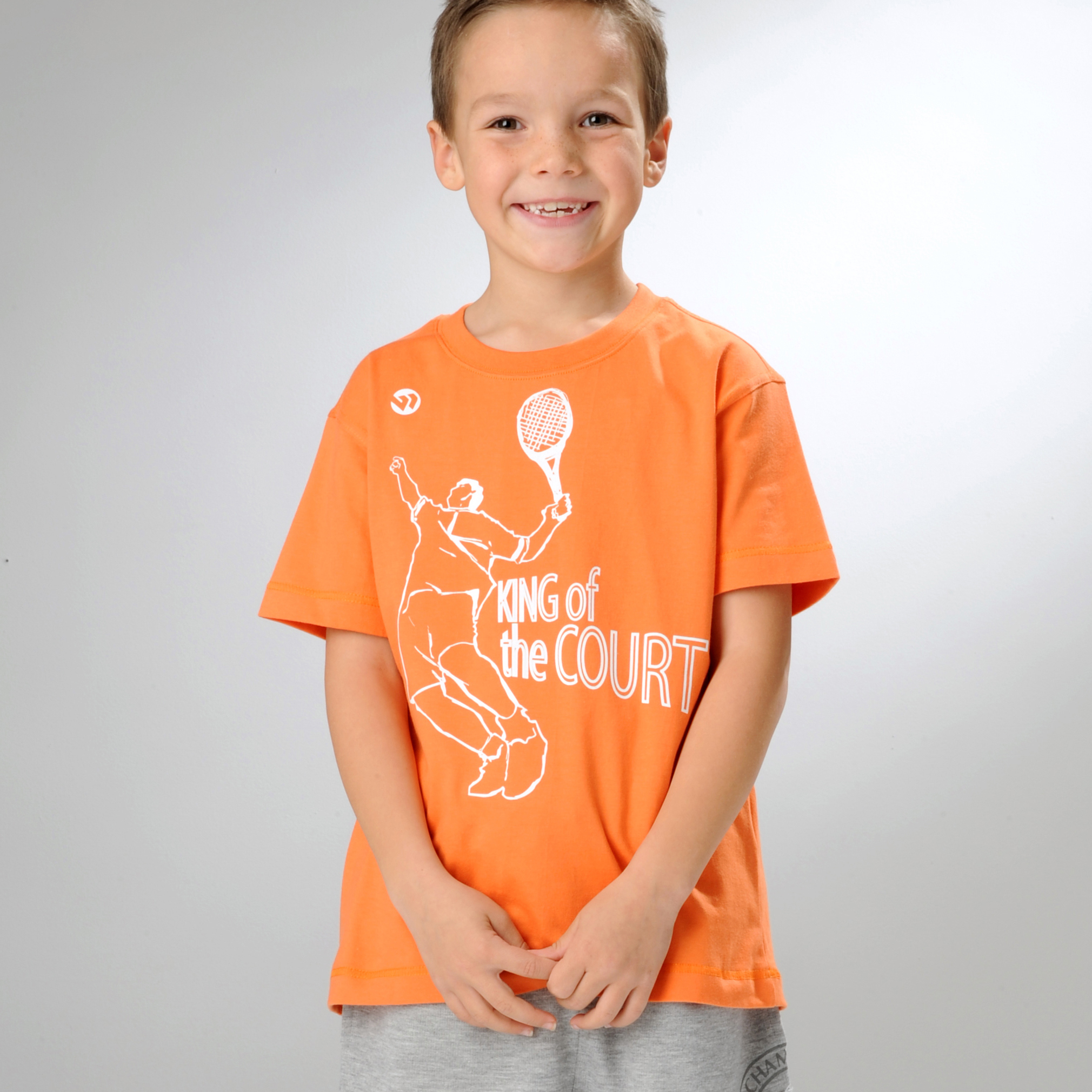 Wimbledon King of the Court T-Shirt - Orange - Infant Boys