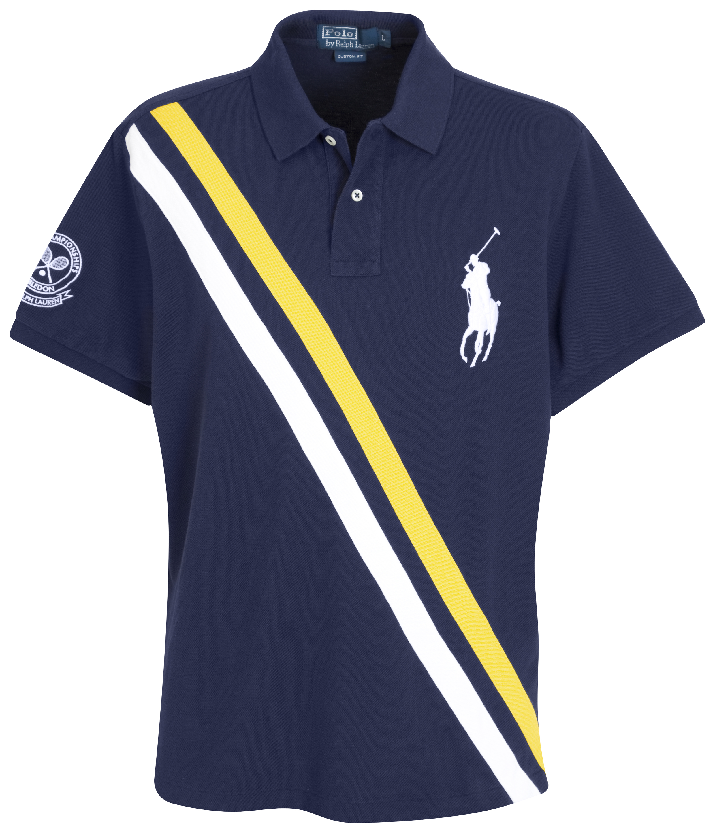 Polo Ralph Lauren Wimbledon Diagonal Stripe Polo - French Navy