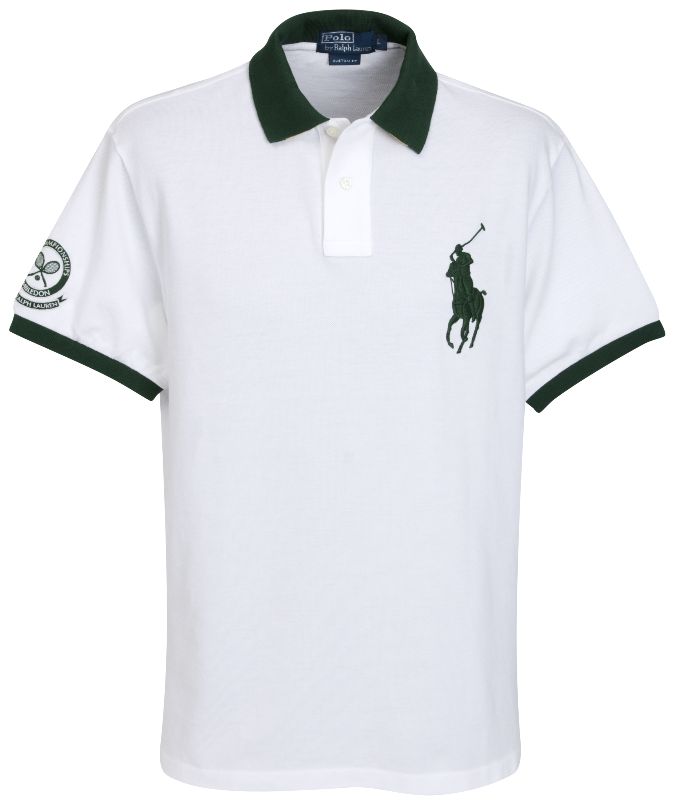Polo Ralph Lauren Wimbledon Tipped Collar Polo  - White