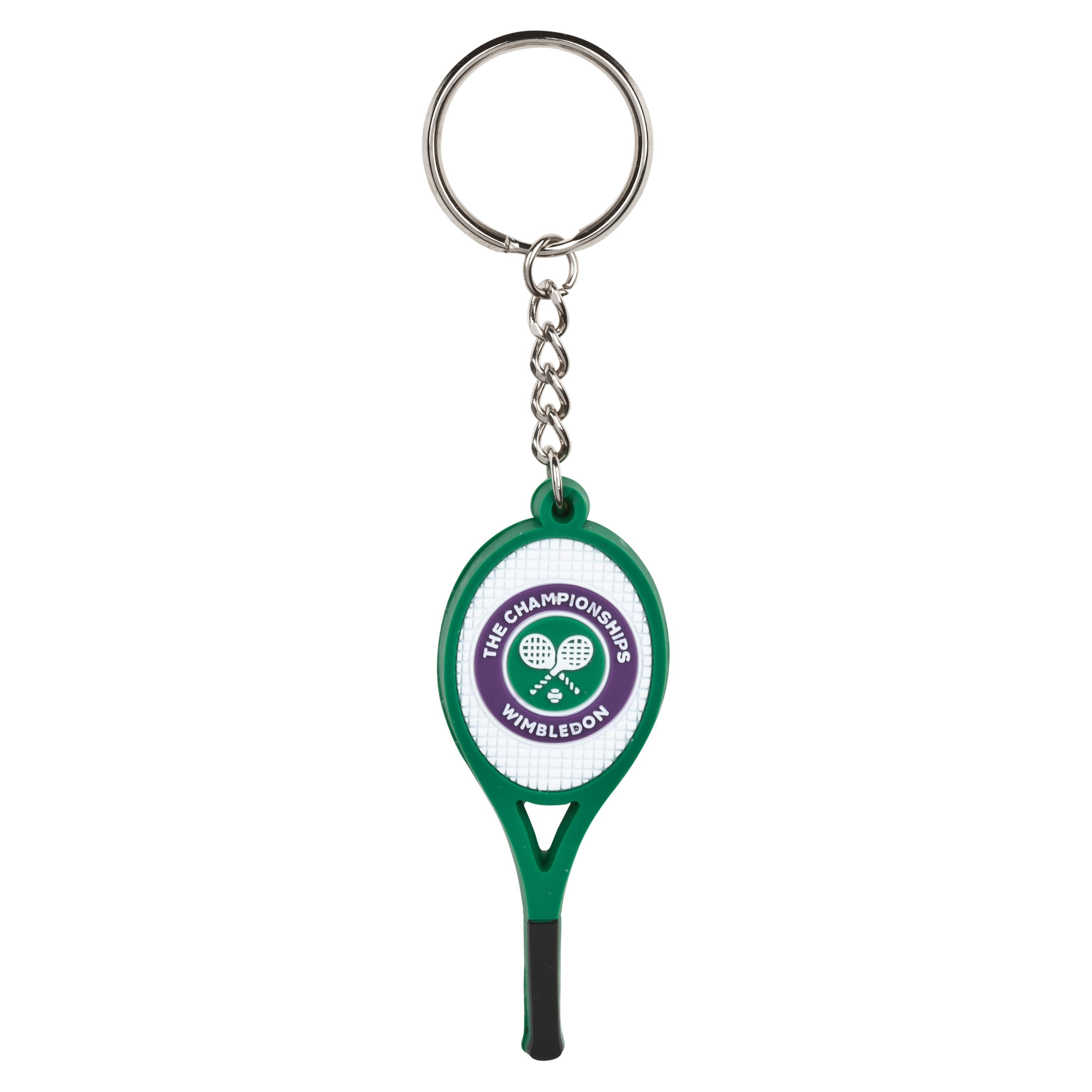 Wimbledon PVC Tennis Racket Keyring - Green