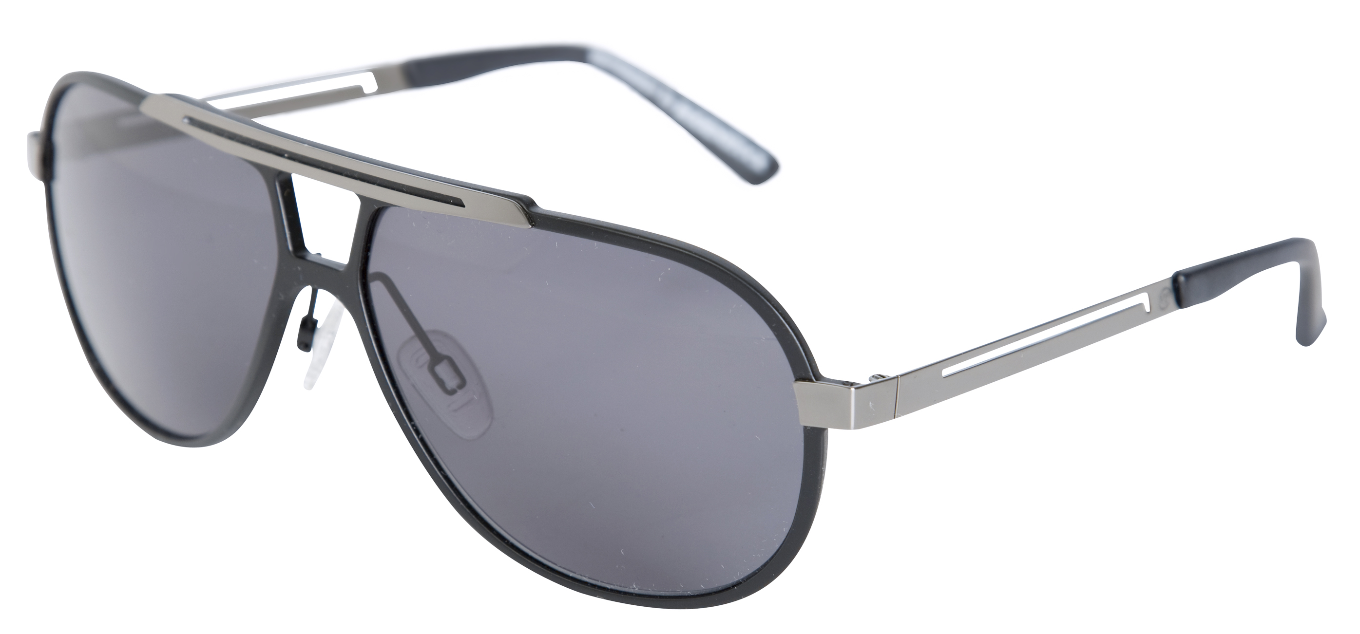 Wimbledon Gents Black Aviator Sunglasses