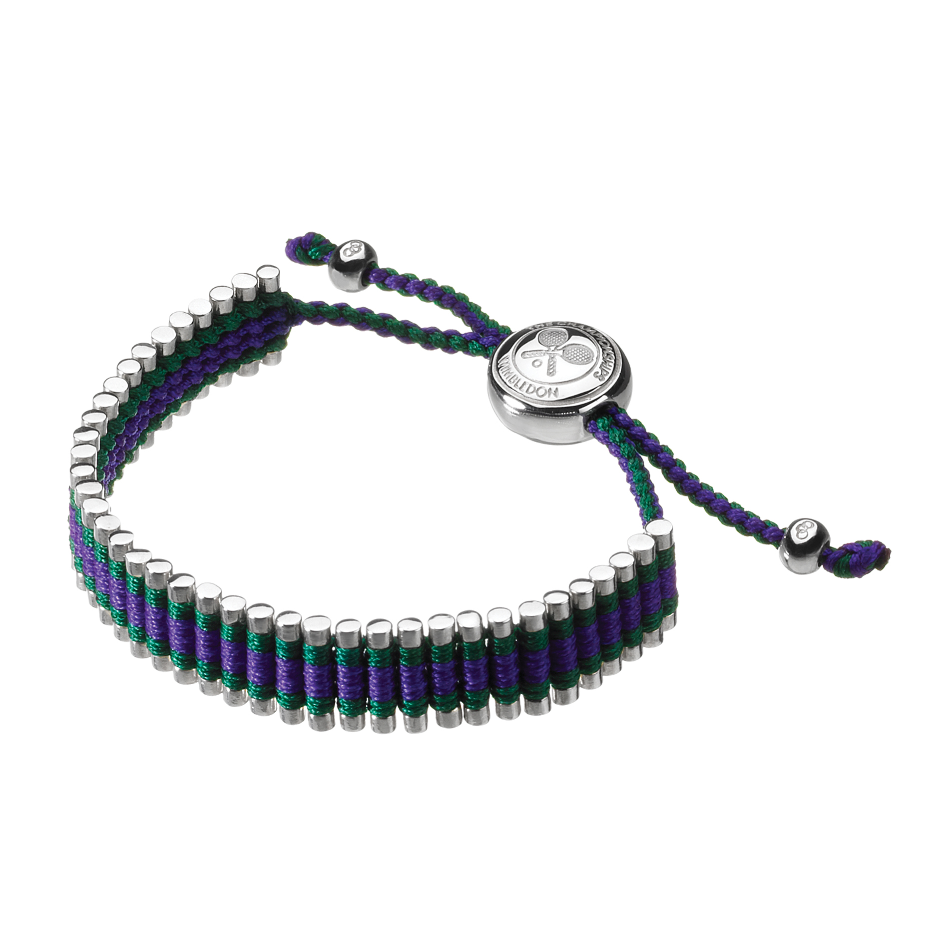 Wimbledon Green/Purple Friendship Bracelet