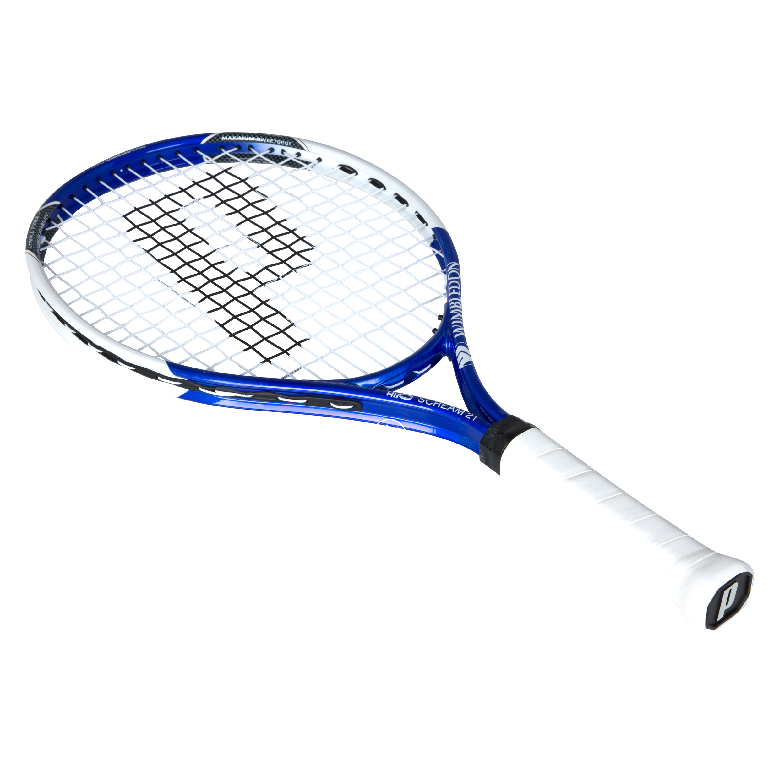 Wimbledon By Prince Airo Scream 21 Tennis Racket - Blue/White