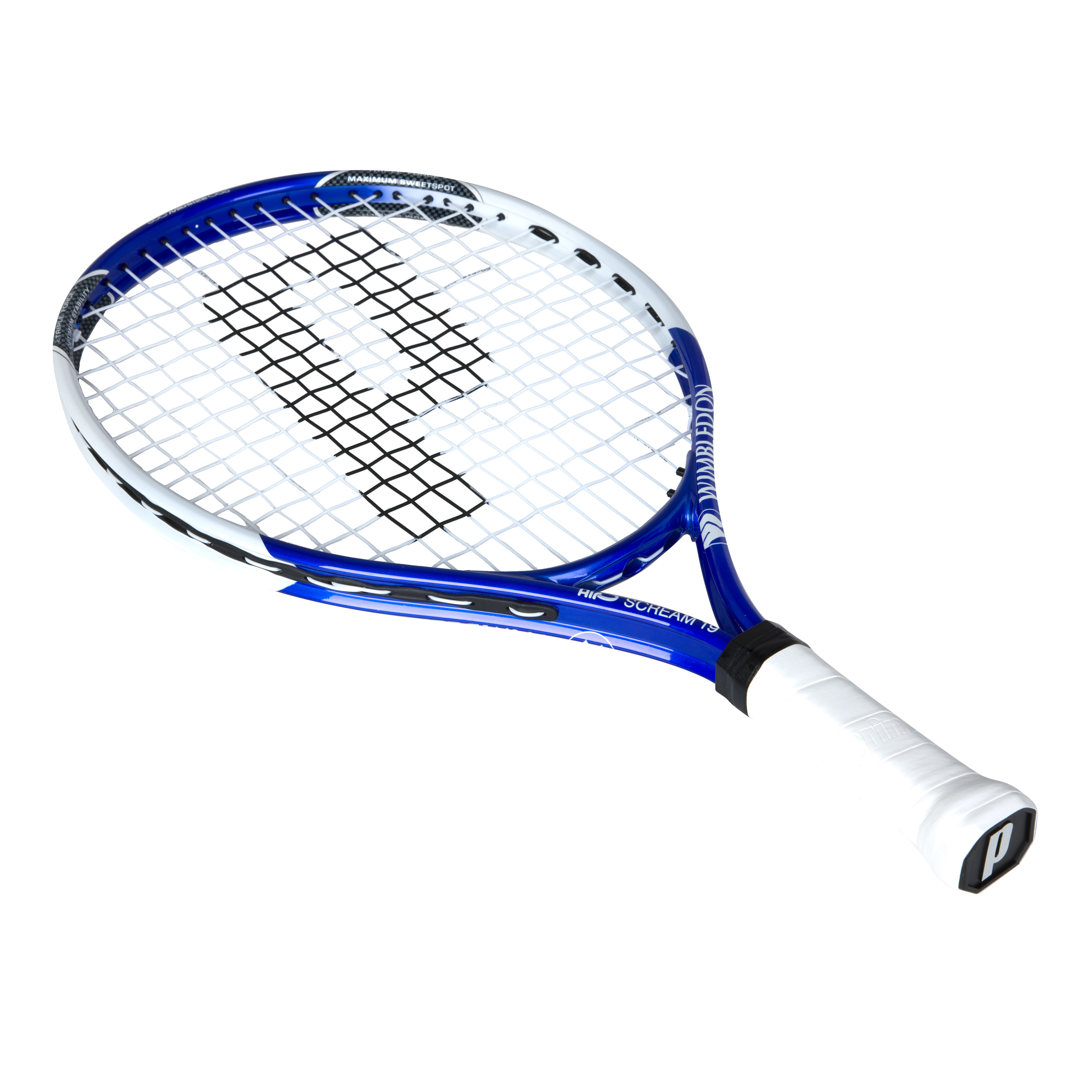 Wimbledon By Prince Airo Scream 19 Tennis Racket - Blue/White